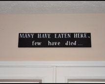 Kitchen Decor, Kitchen Sign, Kitchen Wall Decor, Funny Kitchen Sign, Cute Kitchen Decor, Home