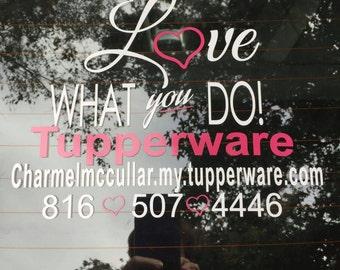 Custom Tupperware Decal