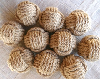 Set of 8 Nautical Monkey Fist Knots. Weddings.Home Decor.Gift.Low price.Good Deal