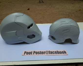 Iron man mark 46 helmet + Captain America helmet raw cast kits Special set
