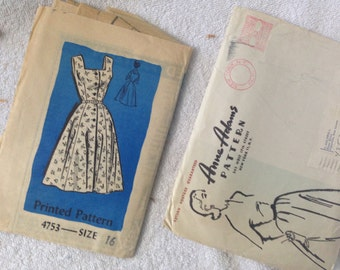 Anne Adams #4753 Misses Uncut Dress Pattern Size 16
