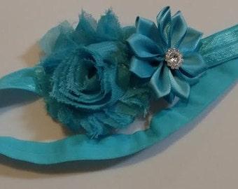 Aqua Flower Infant Headband