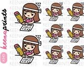 A545 | STUDY HARD Keenachi Repositionable stickers Perfect for Erin Condren Life Planner, Filofax, Plum Paper & scrapbooking