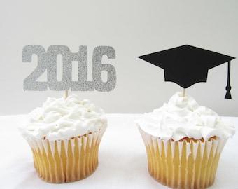 Graduation Cupcake Toppers, 2018 Cupcake Toppers, Graduation Party, Graduation Decor, Graduation Cupcake Pick, College Graduation, Grad Cap
