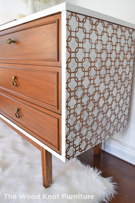 mid century white dresser annie sloan chalk paint. Black Bedroom Furniture Sets. Home Design Ideas