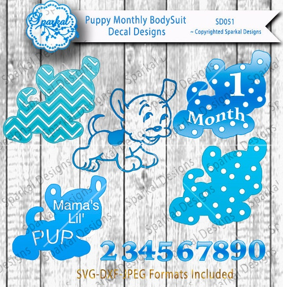 Baby T Shirt Svg Htv Designs Puppy Clipart Monthly Bodysuit