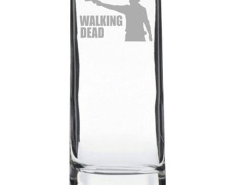 Etched Walking Dead Highball Glass