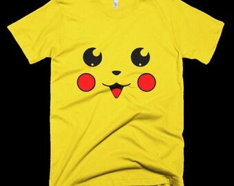 "Youth Pokemon Go, Pikachu on Front, ""Gotcha"" on Back- Customizable"