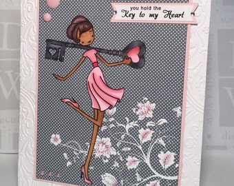Handmade Valentine's Card/Key to My Heart