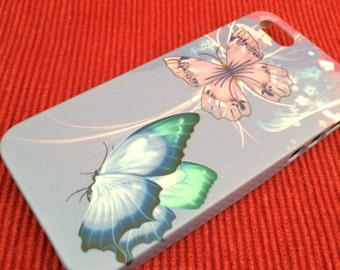 Butterflies Iphone 4 and 5 Plastic Case Free Shipping