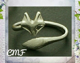 Fox Ring 925 Sterling Silver Ring Wrap Ring