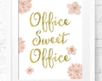 Office Sweet office, wall art, office decor, Instant download, Office Print, Home Decor, Typography print, Printable Decor, Printable Art