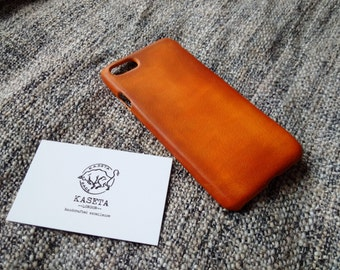iPhone 7 goat leather case 'Old Tan'