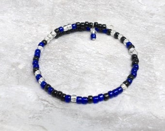 Police Lives Matter Bracelet - Thin Blue Line Gift - Blue Lives Matter - Secret Message Bracelet - I Got Your Six - Police Wife Jewelry