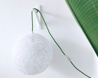 """Plug in pendant lamp - Modern wall lamp or ceiling lamp - Globe pendant lamp - Industrial lamp with switch and plug - SPHERE (10 """"-25 cm)"""