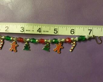 Christmas charmed bracelet