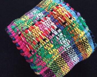Woven Cuff Bracelet-   Large.