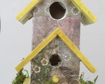 Garden Decor Birdhouse Handmade
