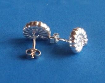 Ammonite Earring in Hallmarked Sterling Silver