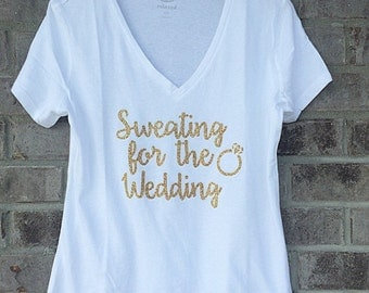 Sweating for the Wedding V Neck Shirt