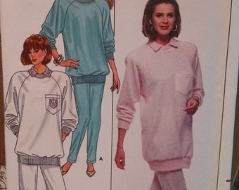 butterick 5953 vintage women's sewing pattern sweatshirt and pants