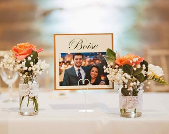 Photo Wedding Table Numbers, personalised baby photos, Wedding Table Plan