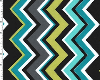Chevy ZigZag Fabric - Lagoon - sold by the 1/2 yard