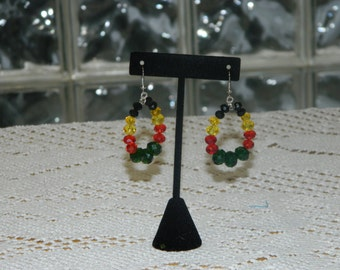 Jamaican Queen Crystal Earrings