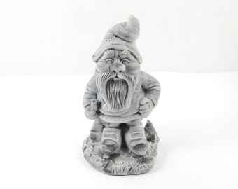 Pressed marble stone crumb Gnome figurine from Russia