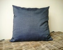 demin pillow cover - chambray pillow cover - navy pillow - navy cushion - demin cushion - chambray cushion cover - dark blue pillow cushion