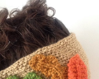 Fall Pocahontas inspired ear warmer