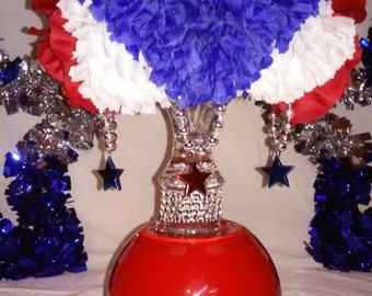 Fourth of July Flower Ball