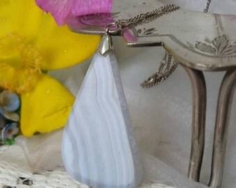 Sterling Silver Necklace with Semi Precious Scottish Stone