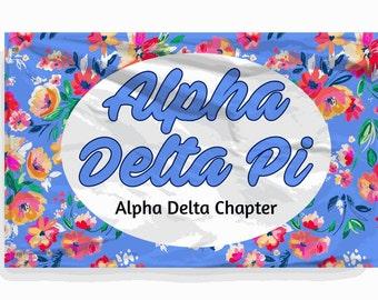 Alpha Delta Pi 3 x 5 Floral Flag