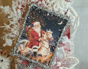 Christmas Snow Flakes Tag Card Holder