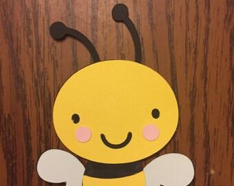 6 Cricut Die Cut Bumble Bee Embellishments