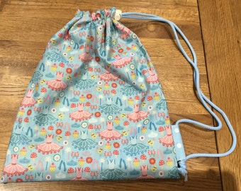 Children's drawstring bag or shoe bag