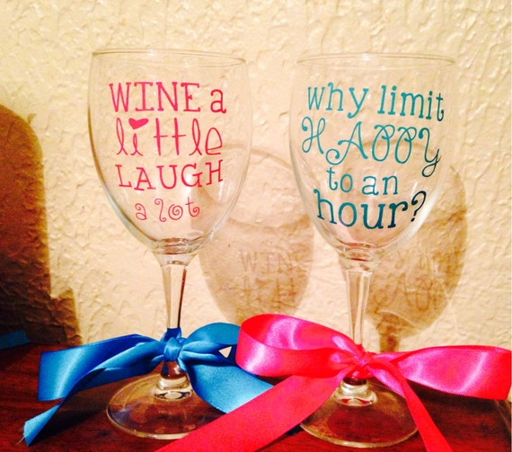 Items similar to flash sale ready to ship wine glass for Cute quotes for wine glasses