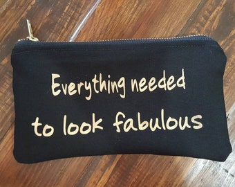 Fun quote cosmetic bag, Bridesmaid Gifts