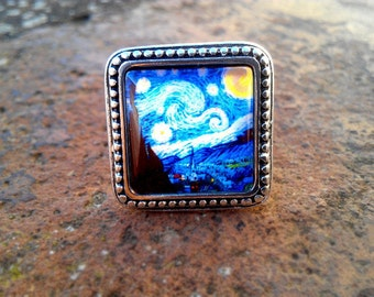 "Ring based in ""The starry night"" by Vincent van Gogh"