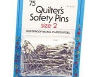 Quilters Safety Pins Sz2