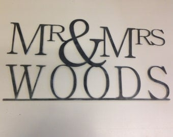 Personalized Mr. & Mrs. Metal Art Sign