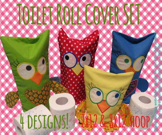 Owl toilet roll cover and hoop by millymellydesigns
