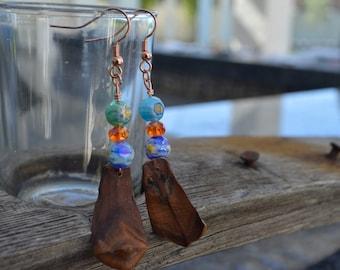 Flower fun pine cone earrings