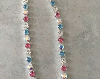 Spring mix swarovski crystal necklace