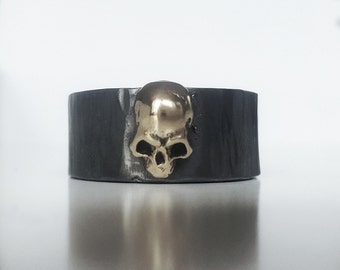 Ring in silver and bronze skull  - Its a wrap
