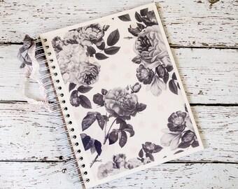 Hello Beautiful Floral Smash Book/Junk Journal