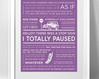 CLUELESS Quotes and Typography Art Print