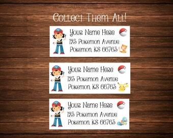 Pokemon Go Inspired Address Labels, Mailing Labels