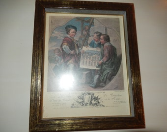 CHICAGO ILLINOIS French Print of Three Boys Wall Hanging